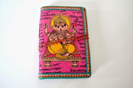 Fuchsia Pink Ganesha Indian Journal